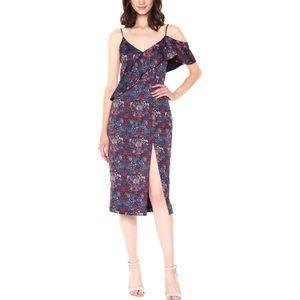 Floral Evening Dress, Size 8